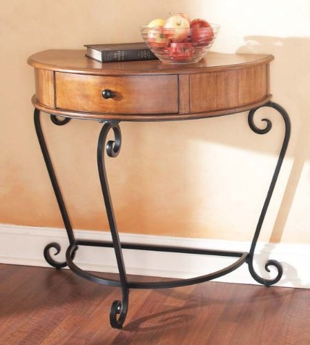 Cheap CBK Wooden Half Moon Console Table (B002LLCZU4)