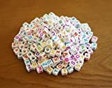 DIY アルファベットビーズ 可愛いカラフル文字 [100個][200個][300個]セット 6mm 手作り手芸 Loom Bands refill Pack Letter beads for Loom bands (300個)