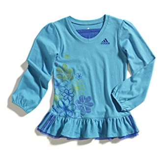 adidas Girls 2-6X Dance Tunic Top, Bluebird, 2T