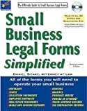 img - for Small Business Legal Forms Simplified: The Ultimate Guide to Business Legal Forms [With CDROM]   [SMALL BUSINESS LEGAL F-5E W/CD] [Paperback] book / textbook / text book
