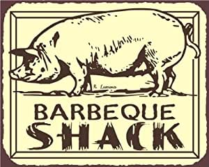 Barbeque Shack Pig BBQ Vintage Meat Retro Tin Sign