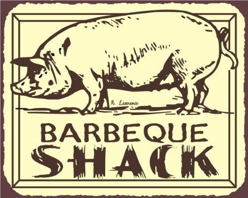 Barbeque Shack Pig Bbq Vintage Meat Retro Tin Sign front-1064951