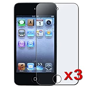 eForCity 3 x ANTI GLARE MATTE SCREEN PROTECTOR Compatible With iPod touch® 4 G