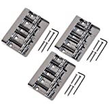 3pcs NEW Quality BS-03 4 String Vintage Bass Bridge Chrome for Squier/fender Jazz Bass