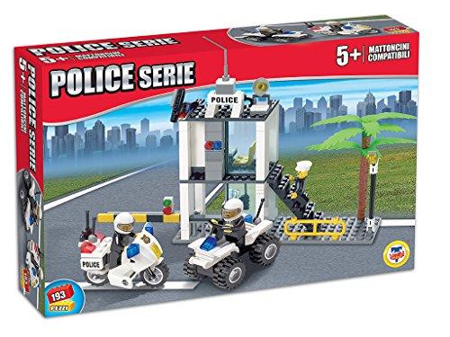 Teorema 63807 - Click Clack, Mattoncini Compatibili Stazione di Polizia, Multicolore