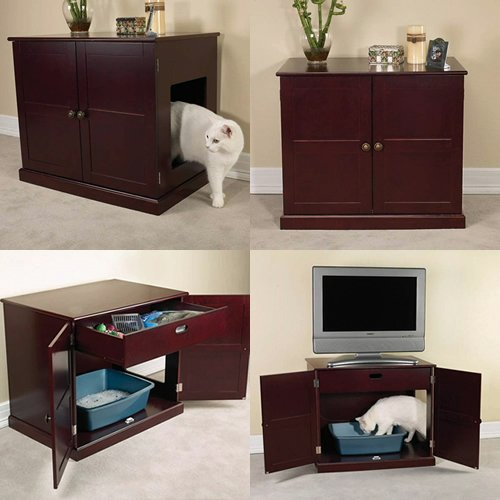 Top 5 Designs of Cat Litter Box Furniture - Pet & Animals Lovers