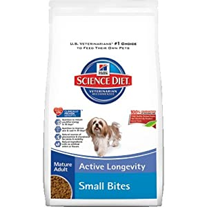 Hill's Science Diet Mature Adult Active Longevity Small Bites Dry Dog Food, 17.5-Pound Bag