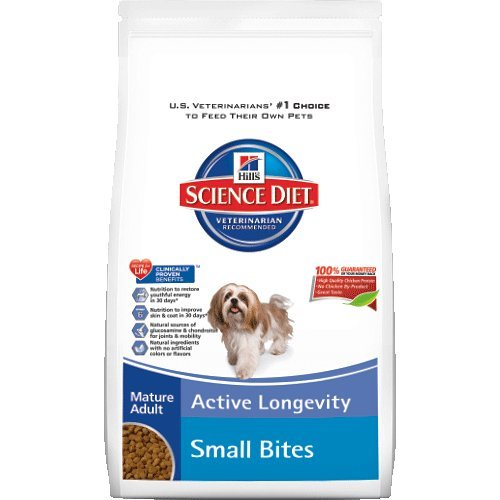 Hill's Science Diet Mature Adult Small Bites Dry Dog Food Bag, 33-Pound