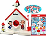 Snoopy Original Sno-Cone (Snow Cone) Machine & Refill (3oz) Pack Gift Set Bundle - 2 Pack