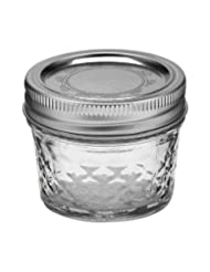 Ball 4-Ounce Quilted Crystal Jelly Jars with Lids and Bands by Ball Jar