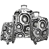 Olympia Luggage Picasso 3 Piece Expandable Hard Case Travel Set