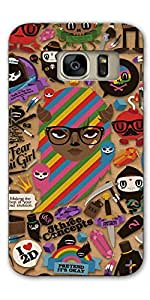 DigiPrints Designer Back Cover for Samsung Galaxy S7-Multicolor