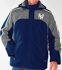 New York Yankees MLB Defense Systems 3-in-1 Heavyweight Performance Jacket by G-III Sports
