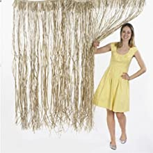 Natural Raffia Door Curtain 1