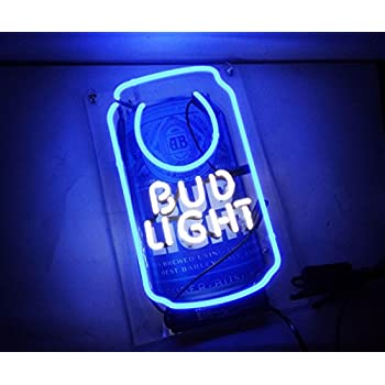 "Cool Beer Neon Sign Bud Light Business Neon Light Sculpture for Bar Pub Hotel Beach Cocktail Recreational Game Room Decor 13"" x 7"""