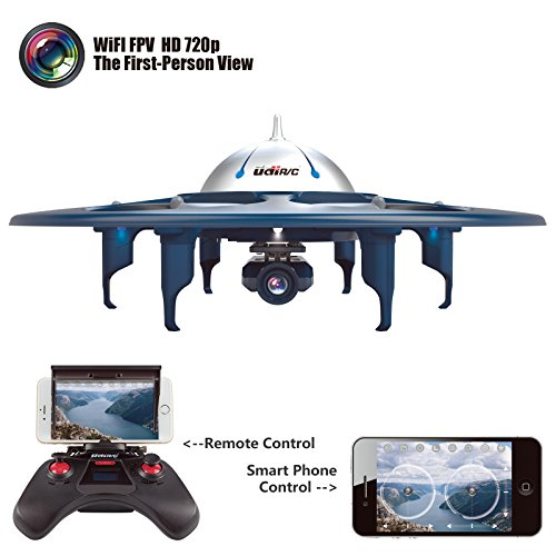 Cheerwing Voyager Wifi FPV 2.4Ghz RC Headless Quadcopter Drone UFO with 720P HD Camera, Ios & Android Phone Control