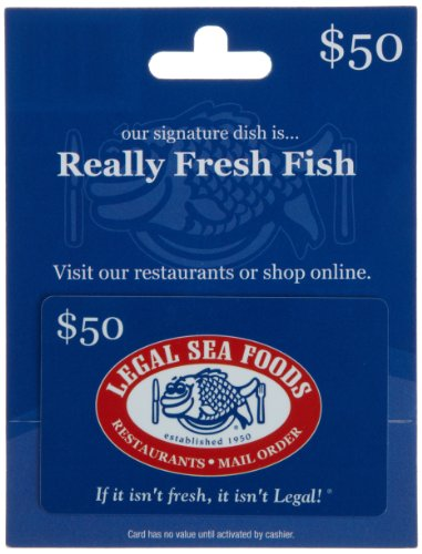 Great! You've found discounted Legal Sea Foods gift cards. Browse and compare 89 gift cards for your favorite Clothing store. Find discounts up to 20% off face value.