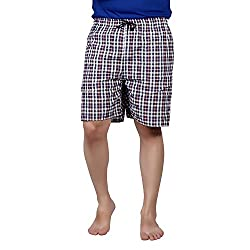 PSK Regular Cotton Check Men's Casual Boxer (Pack of 3) (Small, Color-C)