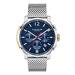 COACH Men's Bleecker Chrono Mesh Matte Navy