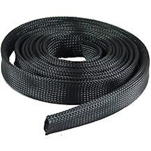 100-ft-1-4-black-expandable-wire-cable-sleeving-sheathing-braid-loom-braided