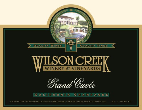 Wilson Creek NV  Grand Cuvee Sparkling 750mL