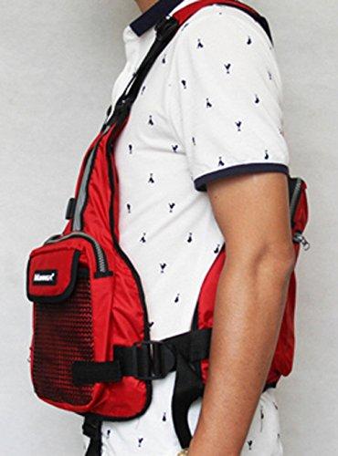 Adult-Buoyancy-Aid-Sailing-Fishing-Kayak-Canoeing-Life-Jacket-Vest-Red