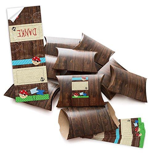 10 kleine geschenkboxen holzoptik braun mit aufkleber for Schatzkiste selber basteln