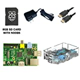CanaKit Raspberry Pi (512 MB) Complete Starter Kit (Raspberry Pi 512 MB + Clear Case + Micro USB Power Supply + Original Preloaded SD Card + HDMI Cable)