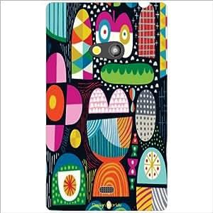Design Worlds - Nokia Lumia 625 Designer Back Cover Case - Multicolor Phone...
