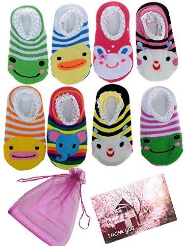 Newborn Baby Toddler Anti Slip Skid Socks + Gift bag + Gift Card,  Footsocks sneakers