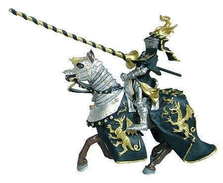 Buy Toy Knight w/ Gold Dragon Lance Replica Toy