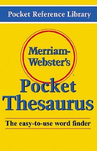 Merriam Websters Pocket Thesaurus
