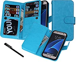 Urvoix Galaxy S7 Case, Wallet Leather Flip Card Holder Case, 2 in 1 Detachable Magnetic Back Cover for Samsung Galaxy S7 G930 (NOT for S7 Edge)