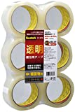 3M スコッチ 梱包テープ 中軽量用 48mm×50m 6巻 313 6PN