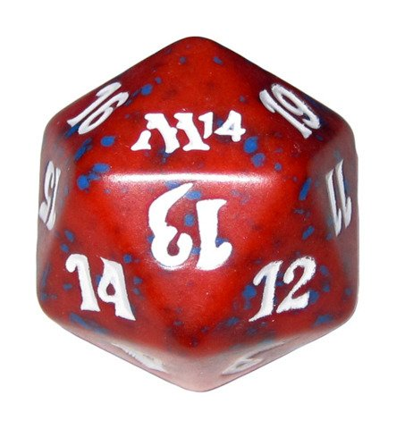 MTG Spindown D20 Life Counter - M14 Magic 2014 Red