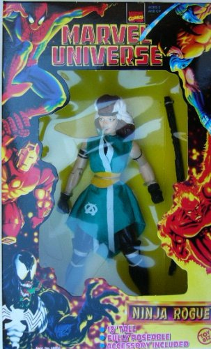 Buy Low Price Toy Biz 1997 – Toy Biz / Marvel Universe – X Men – Ninja Rogue Action Figure – 10 Inches Tall – Fully Poseable – Accessory Included – This is the VERY RARE REAL NINJA ROGUE – MIB – With Ninja Outfit – Out of Production – Limited Edition – Collectible (B000JVBO1Y)