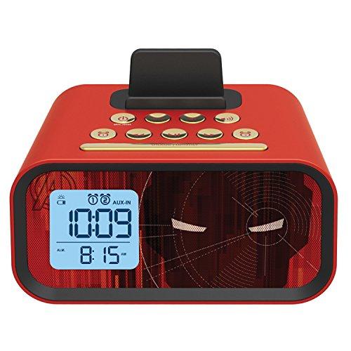 clock radios iron man dual alarm clock speaker system mr m23 ebay. Black Bedroom Furniture Sets. Home Design Ideas