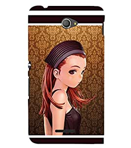 PRINTSWAG BEAUTIFUL GIRL Designer Back Cover Case for SONY XPERIA E4 DUAL