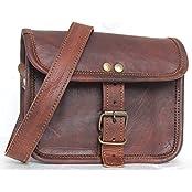 "Handolederco. 7""x5"" Brown ,Genuine Leather Women's Bag /Handbag / Tote/purse/ Shopping Bag"