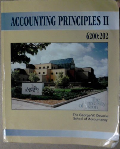 Accounting Principles II - 6200:202 [The University of Akron]