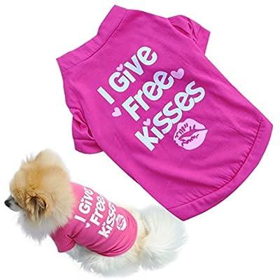 Binmer(TM)Fashion Pet Dog Clothes Cat Puppy Pet Puppy Spring Summer Shirt Small Pet Clothes Vest T Shirt