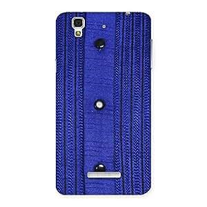 Cute Royal Blue Sweat Print Back Case Cover for YU Yureka Plus