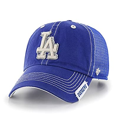 MLB Los Angeles Dodgers Turner '47 Clean Up Adjustable Hat, Royal, One Size,Royal