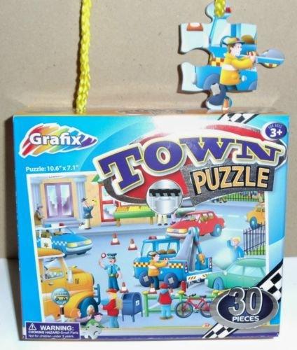 NEW Grafix Toddler Town Puzzle 30pcs. Ages 3+