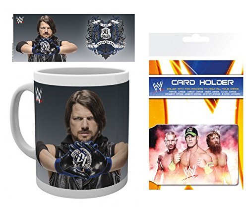 Set: Wrestling, WWE, Aj Styles Photo Coffee Mug (4x3 inches) And 1 Wrestling, Credit Card Holder Wallet For Fans Collectible (4x3 inches) (Wwe Aj Cards compare prices)
