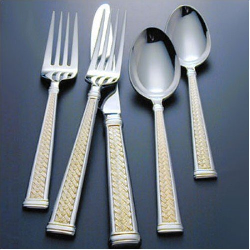 Buy WATERFORD FLATWARE KELLS GOLD 0527 5 PIECE FLATWARE PLACE SETTINGS