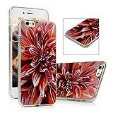 iPhone 6S Plus Funda - Lanveni® Chic Carcasa rígida ultrafina Ultra Slim Dura PC para iPhone 6S Plus 5.5 pulgadas Transparente Case - Patrón Flores Diseño