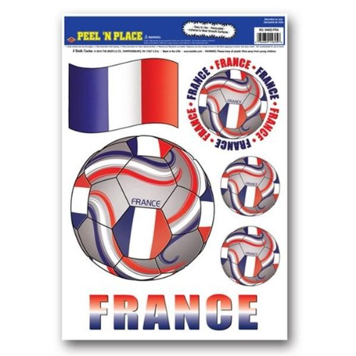 Beistle Peel 'N Place Stickers, 12-Inch by 17-Inch, France