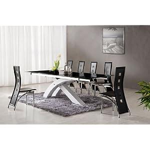 Table manger table de salle manger nexus blanc for Salle a manger en verre