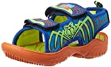 Happy Feet Unisex Spidey Orange and Blue Sandals and Floaters - 12 Kids UK/India (30 EU) (HF048)